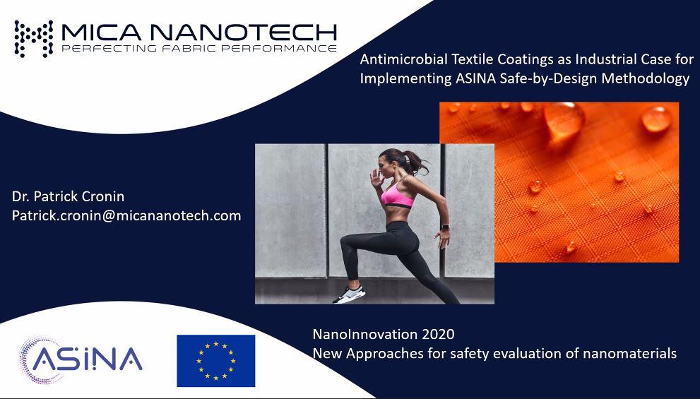 ASINA project presentation at NanoInnovation 2020