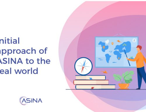 Initial approach of ASINA to the real world